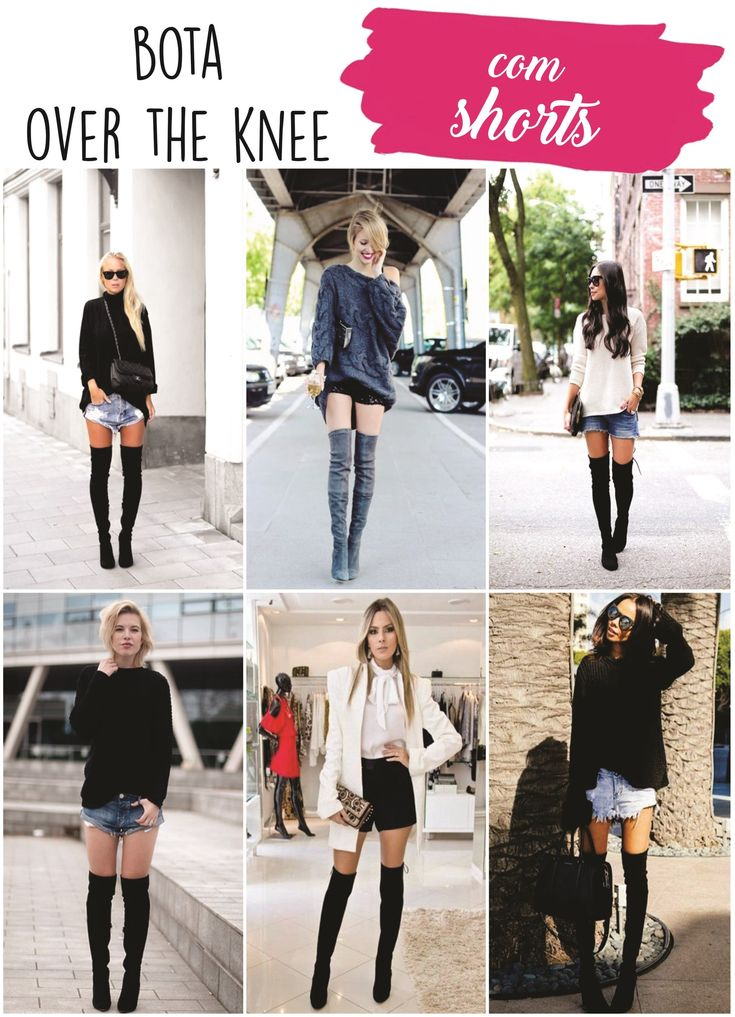 Como usar bota de cano longo com shorts | How to use boot Over the Knee