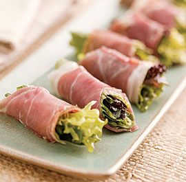 My husband and daughter loved these. Also tried pancetta, but it needed the saltiness of prosciutto. Vinaigrette was very tasty.