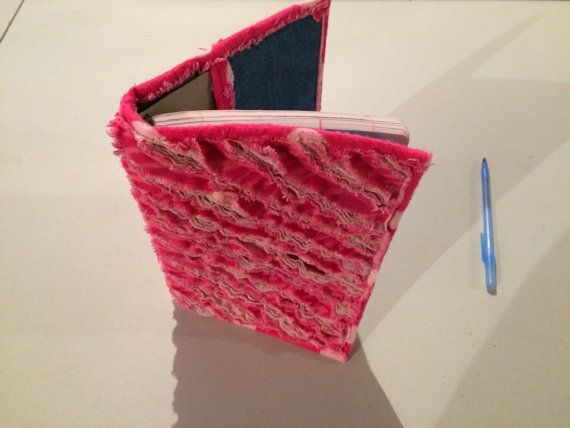 Pink Rag Quilt Style Journal Cover Hot Pink by StarBoundHorses