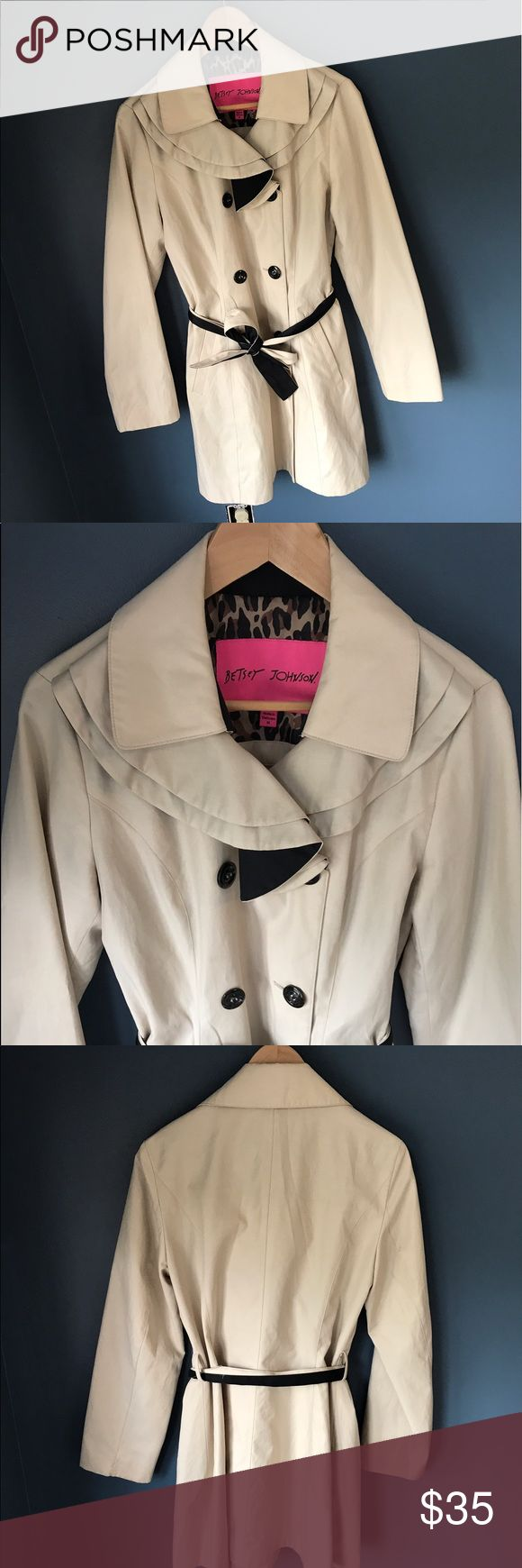 Betsy Johnson Trench Coat This coat is in great condition. Always received tons of compliments on it. Could use a good dry cleaning (price to reflect that). Betsey Johnson Jackets & Coats Trench Coats