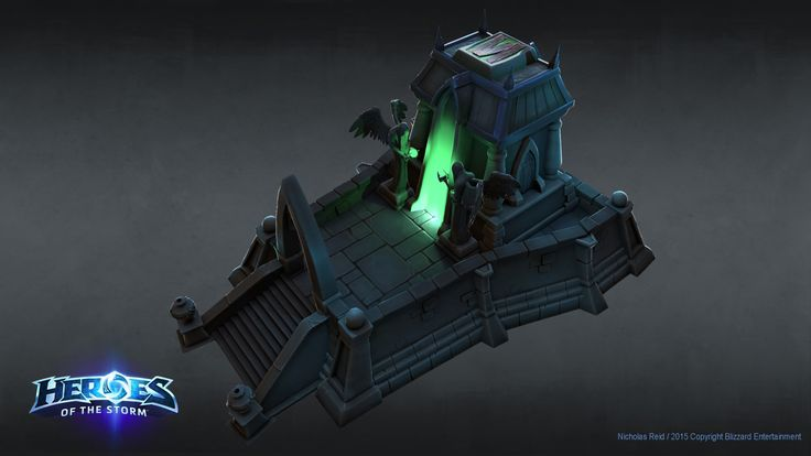 ArtStation - Heroes Of The Storm - Large Mausoleum, Nicholas Reid