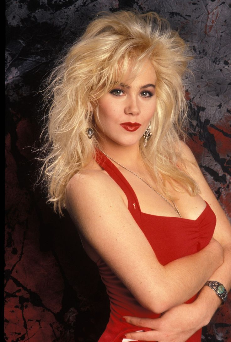 Christina  Applegate in the 1980s