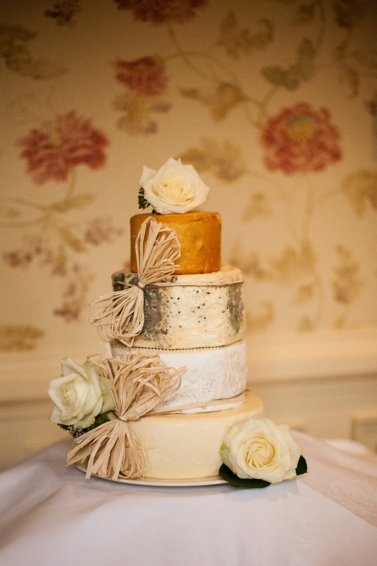 Lovely wedding Cheese Cake with white roses