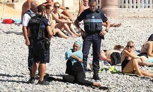 French burkini ban enforcement