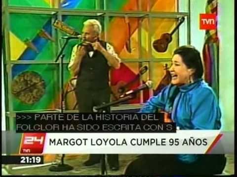 MARGOT LOYOLA CUMPLE 95 AÑOS DE VIDA 24HORAS TVN 14 09 2013)