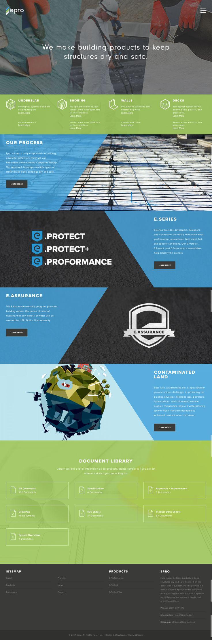 Custom rebranding & website design for EPRO by MODassic Marketing