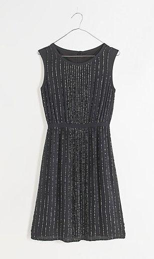 sequin line dress / madewell
