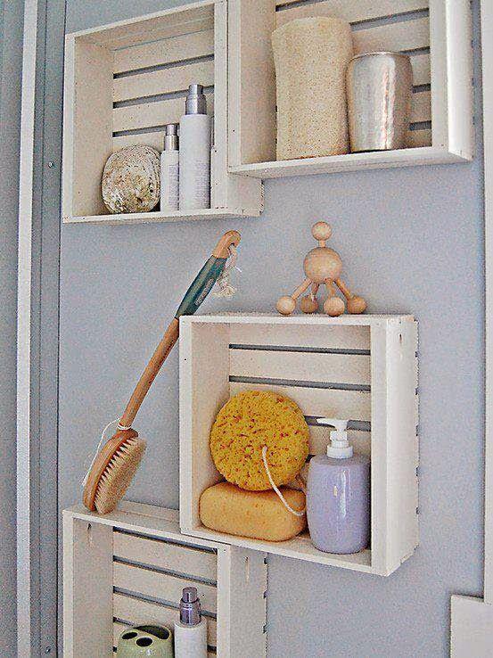 MENTŐÖTLET - kreáció, újrahasznosítás: Ládából fürdőszobai tárolás