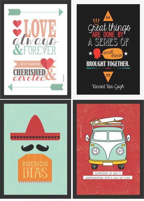 Posters gratuitos para você decorar a sua casa | http://www.blogdocasamento.com.br: