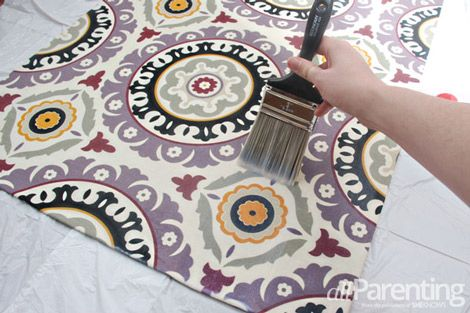 Make a fabric rug out of any fabric you like... DIY craft