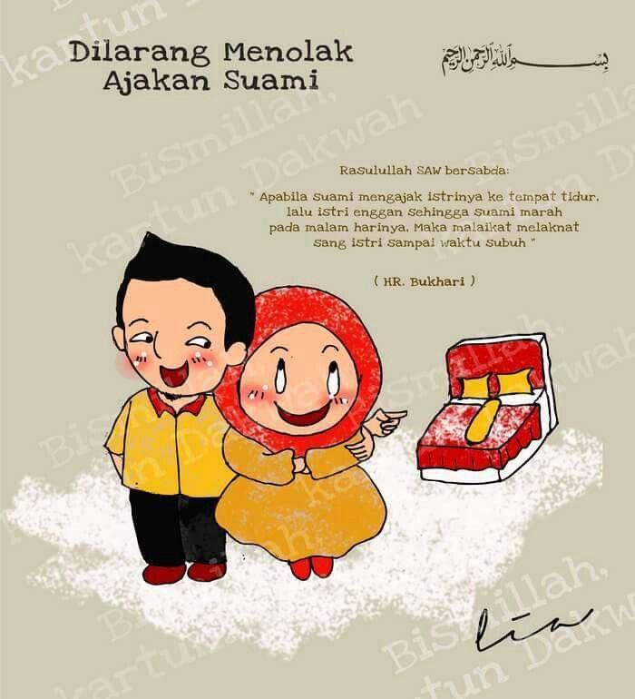 Dilarang menolak ajakan suami :)