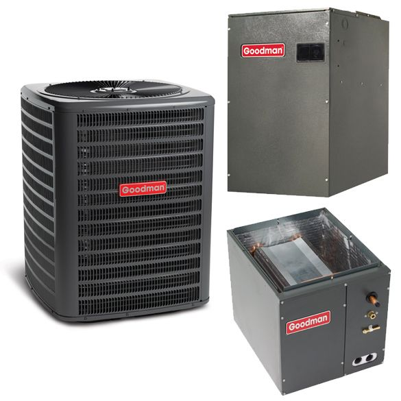2 5 Ton A C Goodman Gsz140481 15 Seer Variable Speed Central Air Conditioner Heat Pump Multi Position Sy In 2020 Central Air Conditioners Heating And Cooling Heat Pump