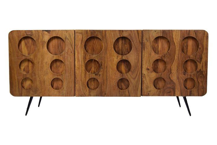 Organisch gestaltete Fronten im klassischen Retro Design Die Klarion Serie überzeugt mit abgerundeten Ecken und organisch gestalteten Fronten. Schwarze, ausgestellte Beine im Sixties-Look und natürlich gemaserte Oberflächen...