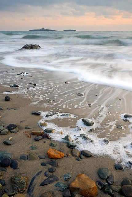 Aberdaron Beach at Sunset, Lleyn Peninsula, North Wales