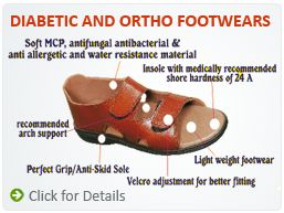 We are Manufactures of  various Orthopedic, Diabetic footwear for Men's and Ladies  , which  are made of high grade MCP/MCR material and are sought after owing to their high quality  and safe usage