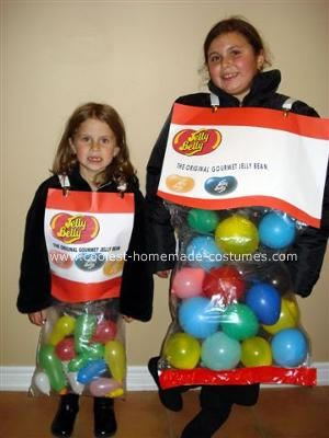 Homemade Jelly Belly Costumes: Here's how we made our Homemade Jelly Belly Costumes: Items you need 1. A pair of sweats, both the pants and tops, in any bright color you like as the