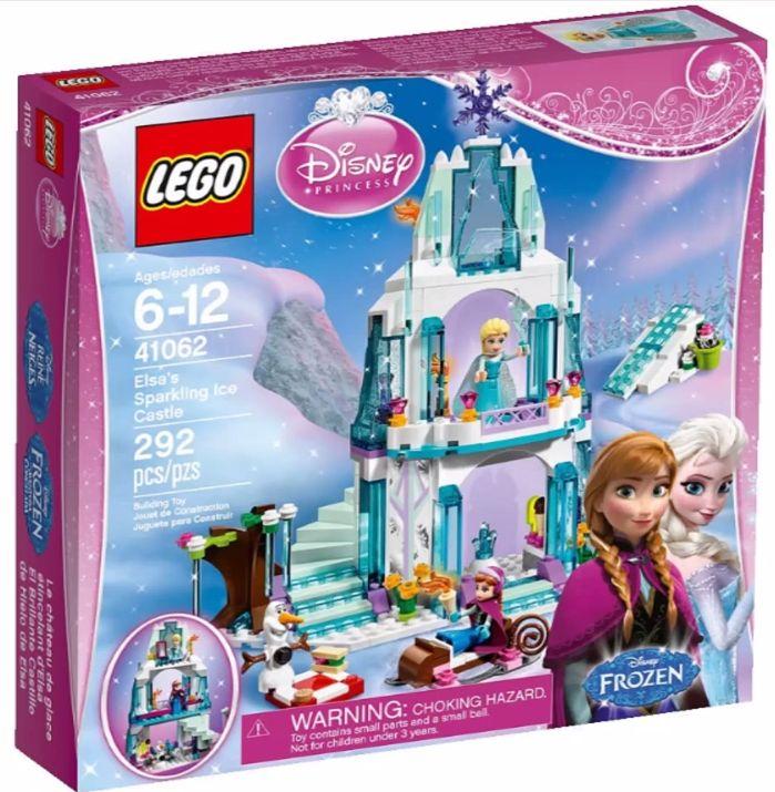Both girls - Jan. 2015 LEGO Frozen Elsa's Sparking Ice Palace 41026 Box LEGO Disney Princess 2015 Sets