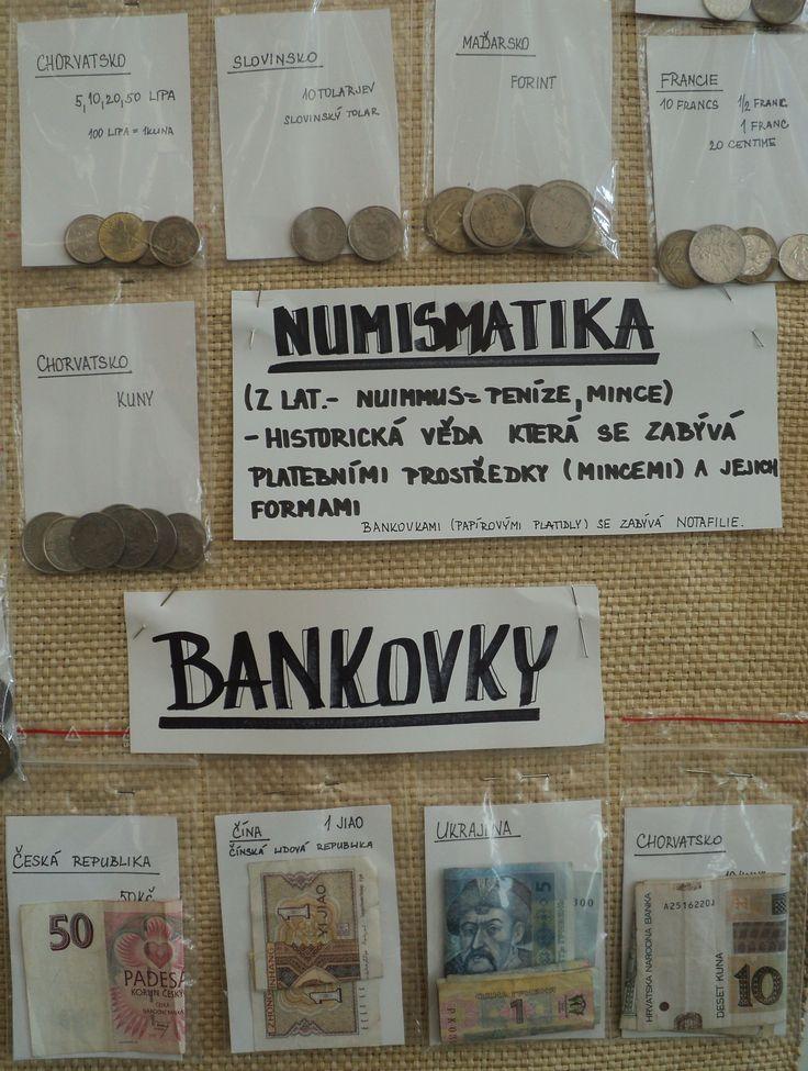 Sbírka mincí a bankovek - detail