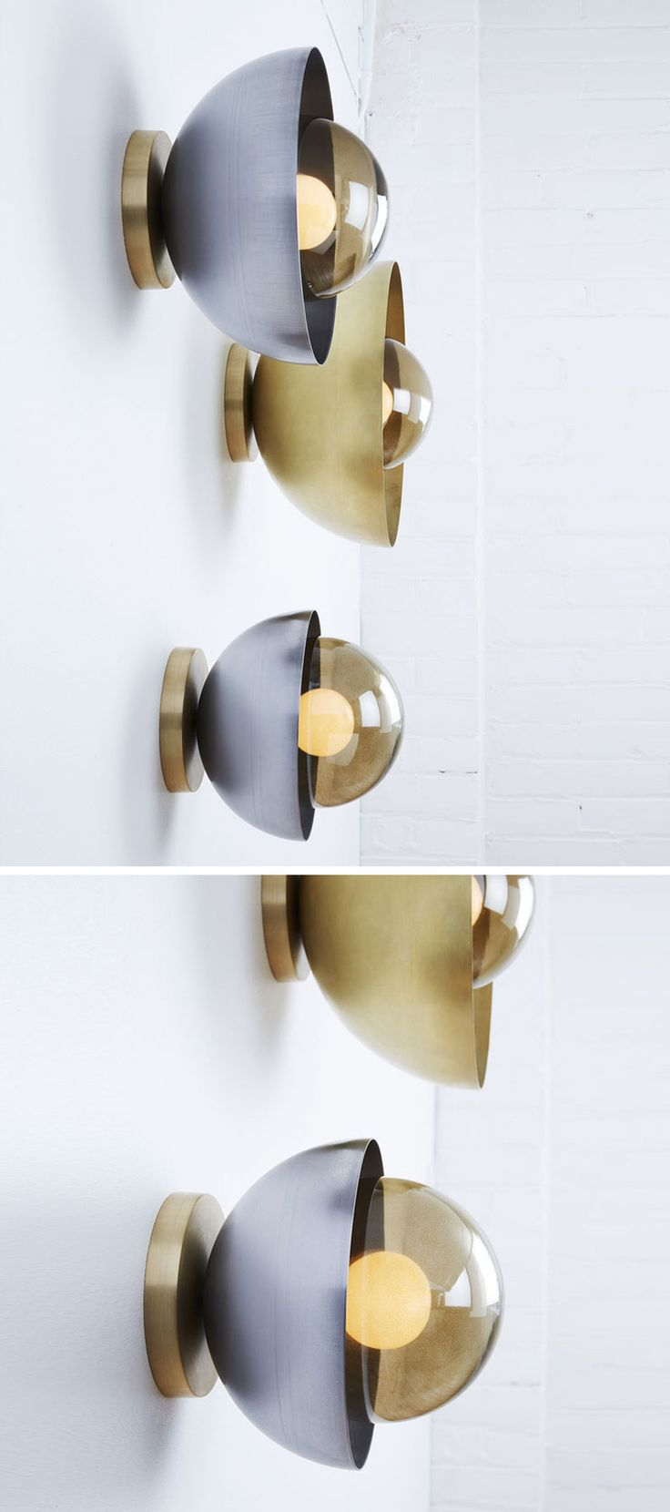 The metallic materials allow these modern wall light fixtures to reflect light, creating a soft glow in your interior.