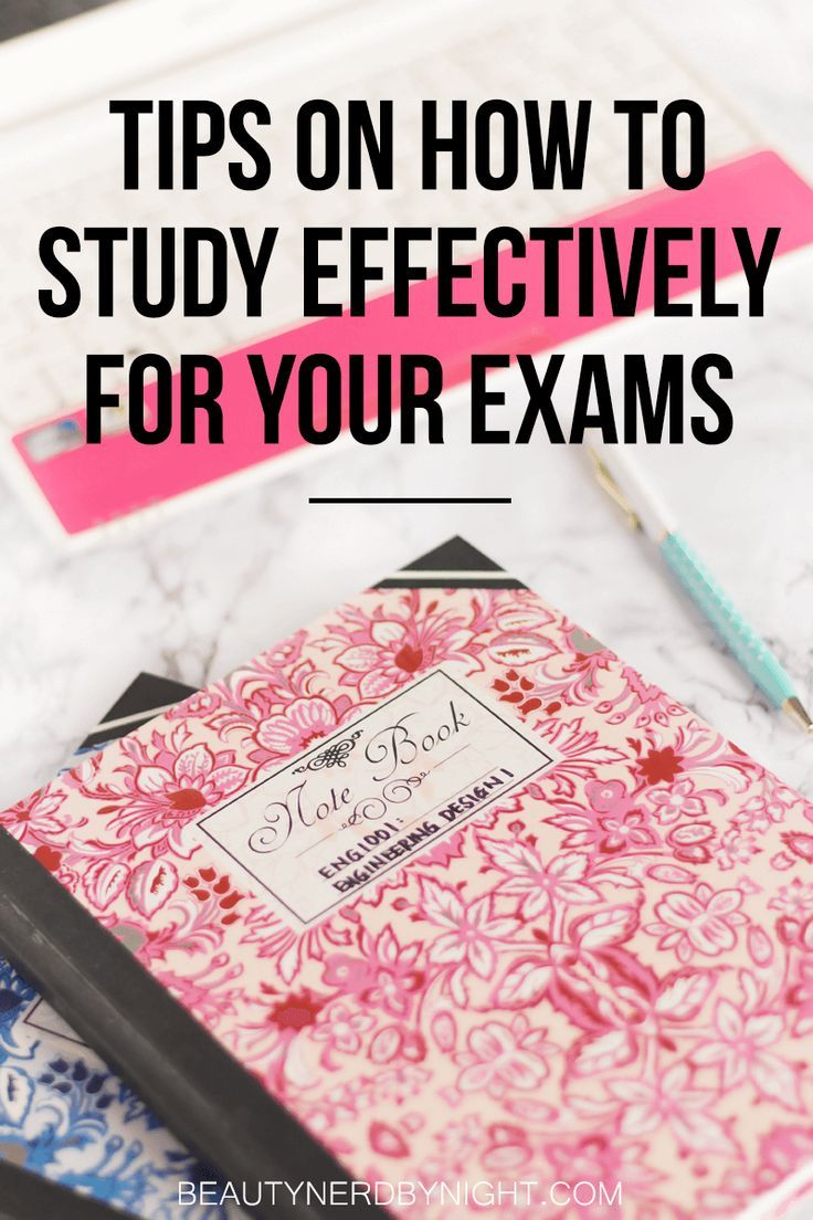 Tips to Study Effectively For Your Exams ⋆ Beauty Nerd By Night
