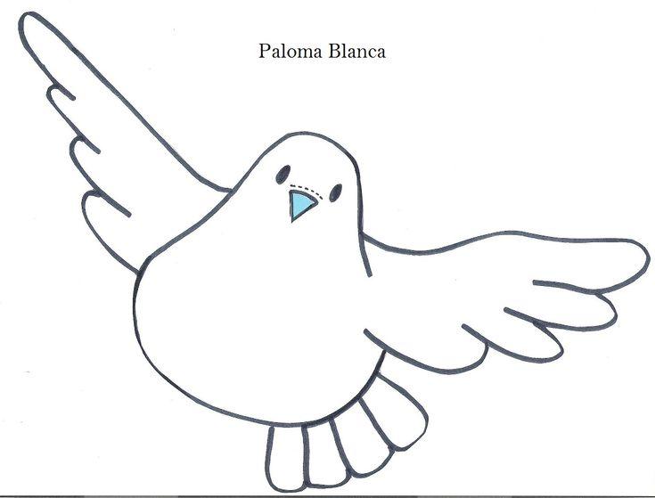 Modelo de palomas.Dibujos de palomas. | RECREAR - MANUALIDADES - ARTE