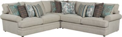 Cindy Crawford Home Lincoln Heights Stone 3 Pc Sectional