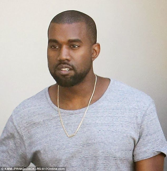 Proud Dad - Kanye West Shows Off His Matching Nori Necklace
