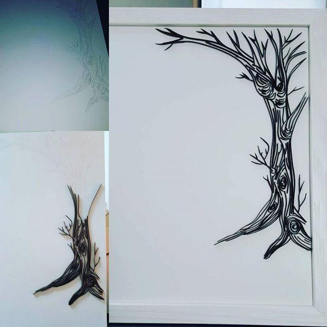 En cours de création, un petit cadre naissance en quilling pour un petit garçon 24x32cm #art#artiste#quilling#cadre#tableau#toile#scrapbooking#enfant#naissance#cadeau#papier#loisircreatif#arbre#nature#cadeau#plouay#lorient#morbihan#finistere#bretagne#france#lestoilesdelili