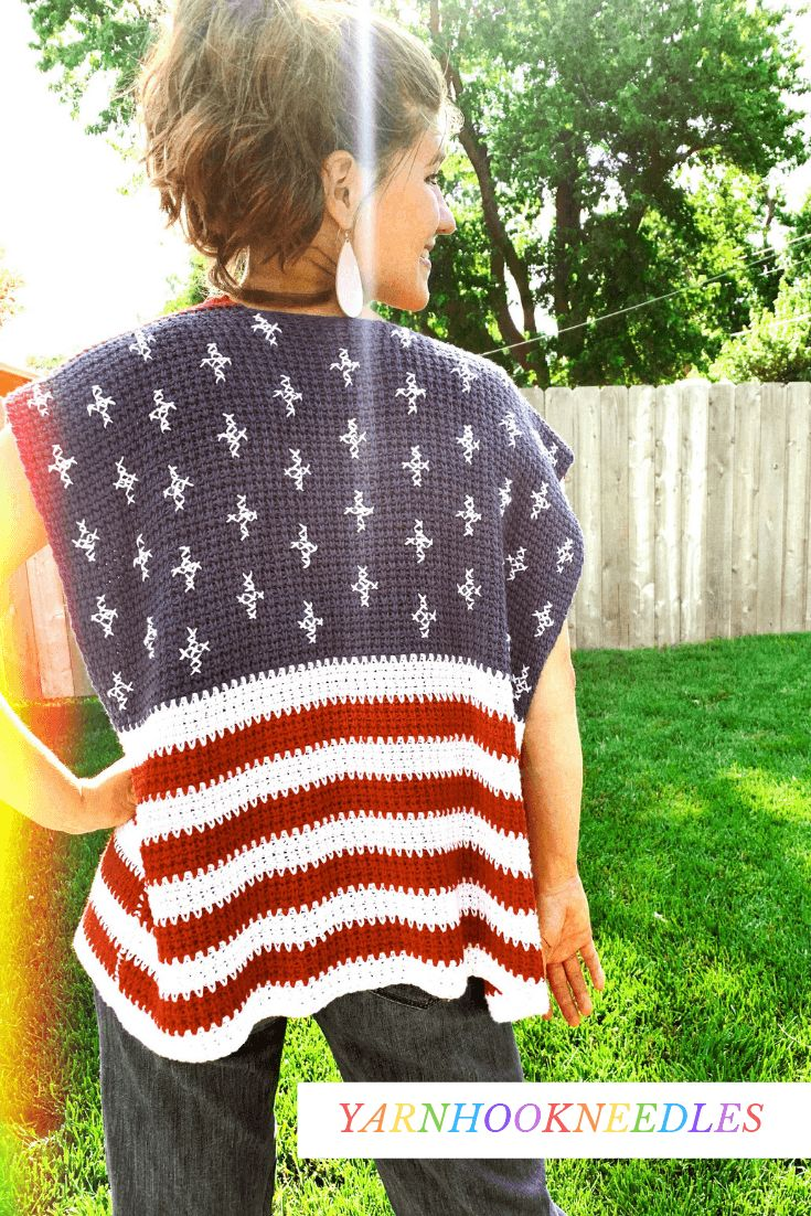 Make This Free American Flag Crochet Blanket