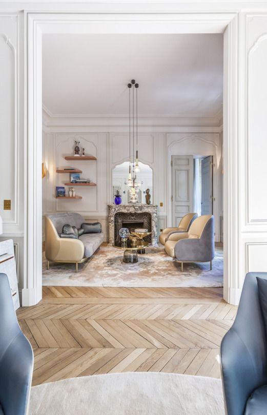 Apartment Saint Germain des Prés, Paris, by Gérard Faivre.