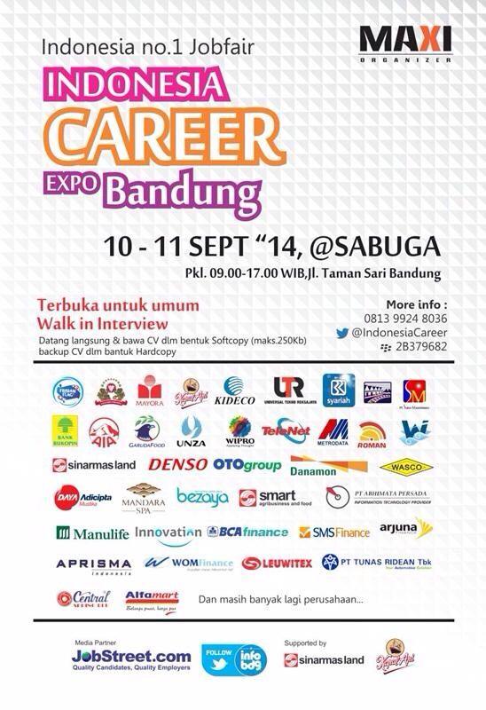 Career expo bandung september 2014