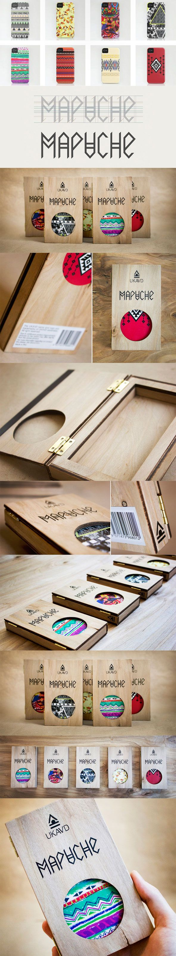 iPhone 5 cases package. Mapuche by Alina Kazachuk via Behance.