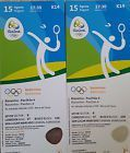 #Ticket  2 Badminton Tickets Olympia Rio 2016 Einzel & Halbfinale Mixed (BD014) #deutschland