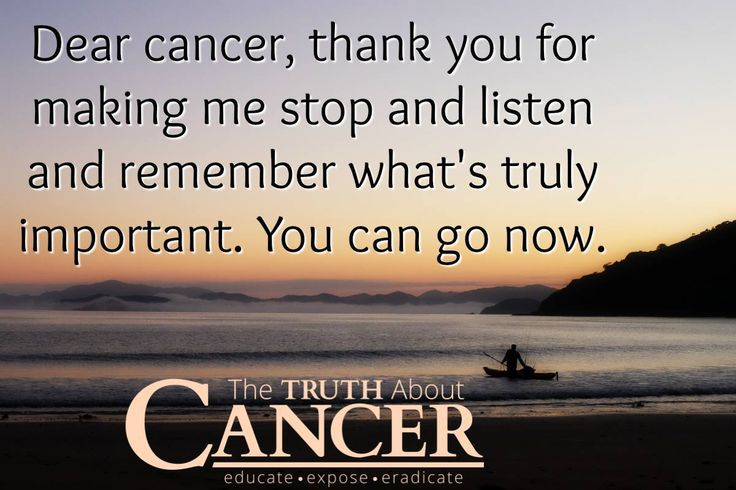 Yes, indeed. We are with you cancer warriors! We can do this! - The Truth About Cancer