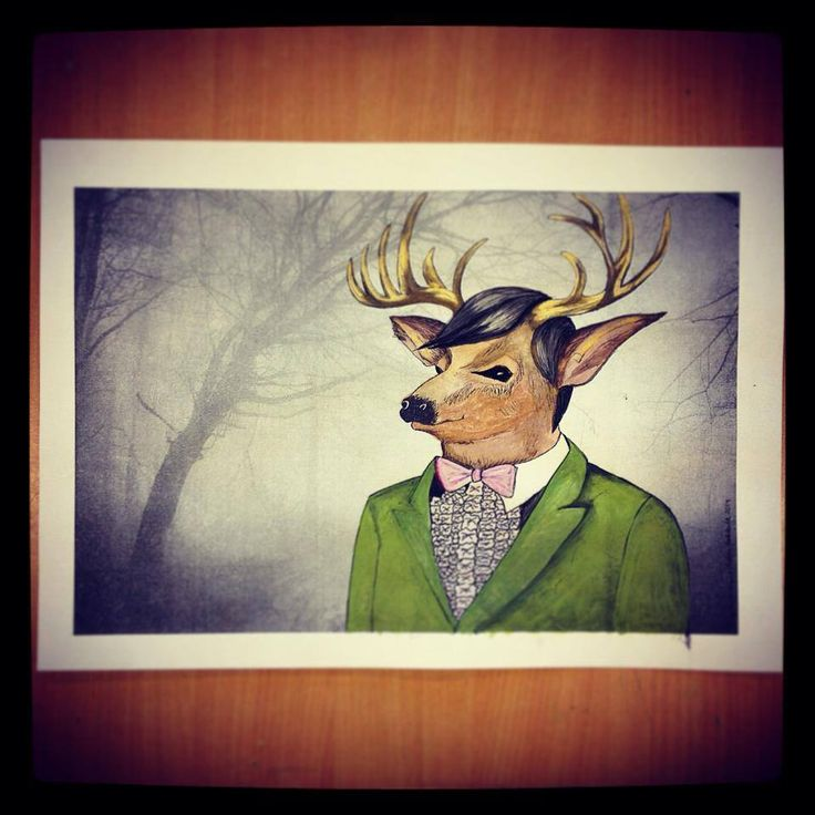 Deer Stag Young Adult Watercolour Photo Mixed Media  Buy your A3 quality print from my etsyshop. Use link: https://www.etsy.com/no-en/shop/Rampestreken Or visit me at https://www.facebook.com/Rampestreken and order through inbox. Painting, drawing and photgraph by Ragnhild Marie Aston Hoddevik. Feel free to make requests, I also make orders:)
