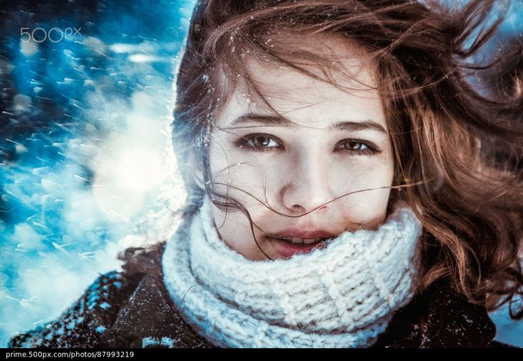 Winter girl - stock photo