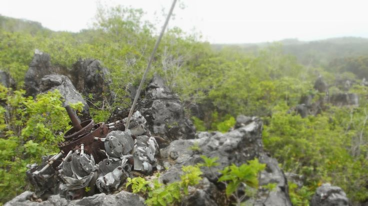 Finding The Scattered Remains of the B-25 Coral Princess On Top Of Nauru http://jouljet.blogspot.com/2014/03/finding-scattered-remains-of-b-25-coral.html