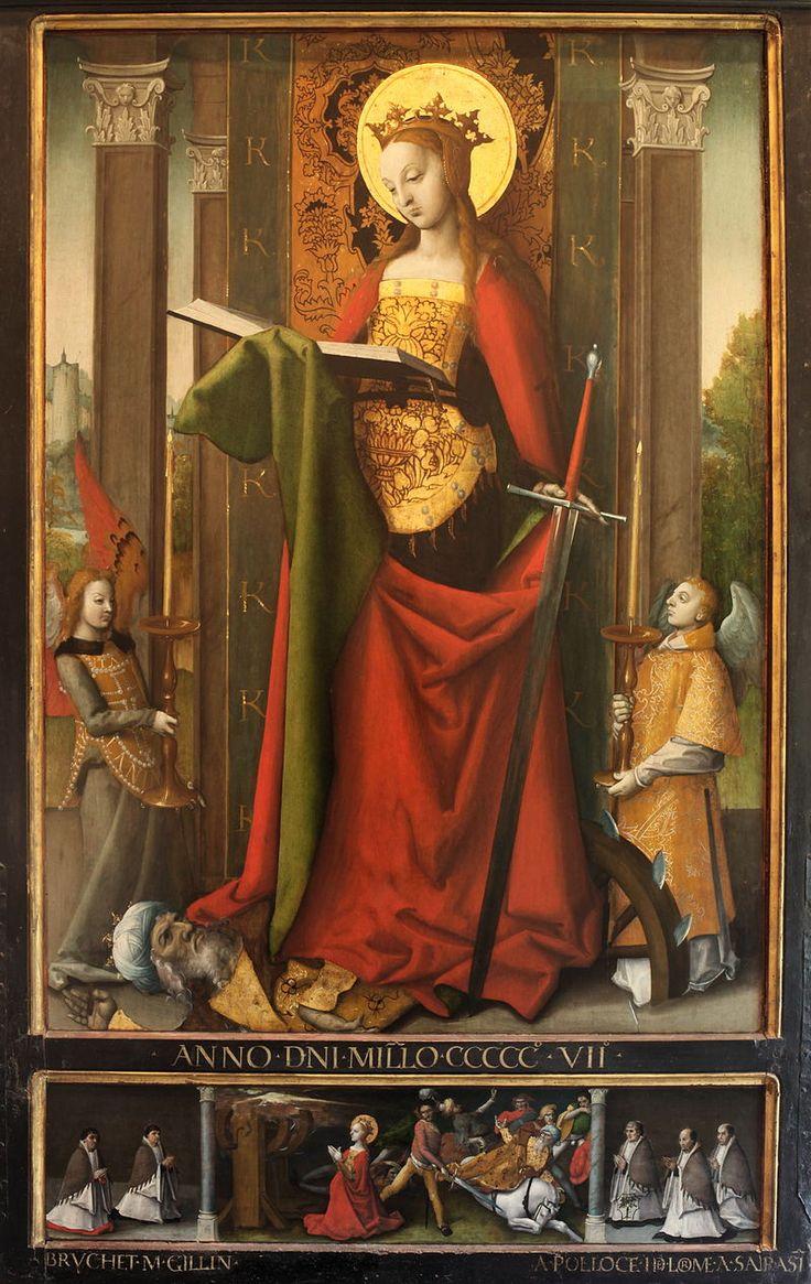 St Catherine-Claude Guinet-MBA Lyon B-564a-IMG 0228 - Catherine d'Alexandrie — Wikipédia