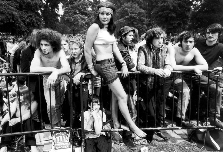 1969: Rolling Stones in Hyde Park - Jennie Wilson arrived at the park at 3 a.m. to secure a good spot.  Image: Daily Mirror/Mirrorpix/Corbis (via Mashable)