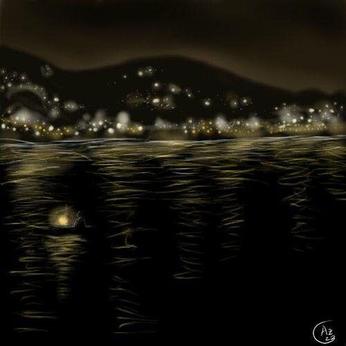 """""""Ambon at night"""" Digital painting"""