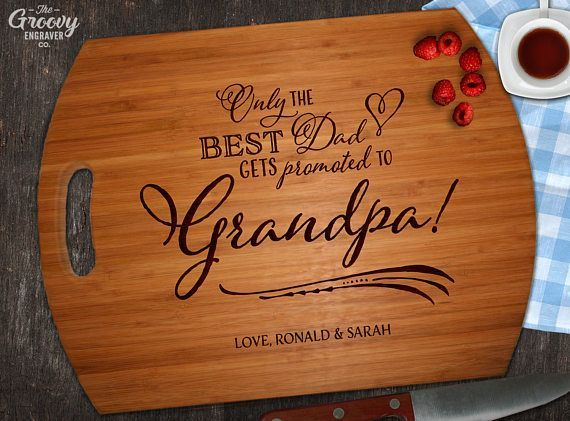 Father's Day Gift Bamboo Cutting Board Best Dad Promoted