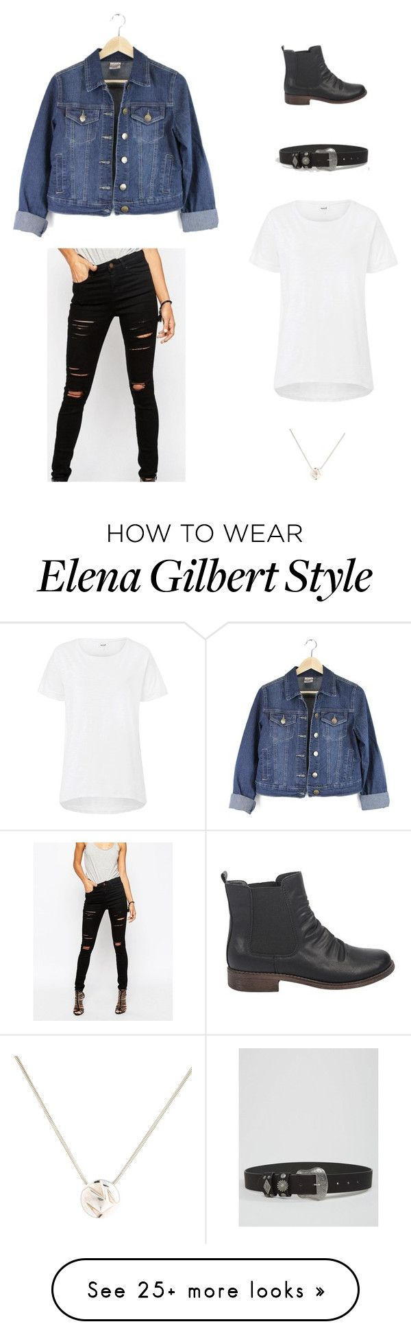 """""""Elena Gilbert"""" by brooke-redpathbont on Polyvore featuring ASOS and Tiffany & Co."""