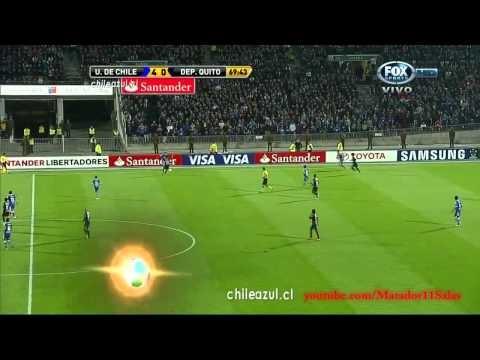 U de Chile 6-0 Deportivo Quito HD Copa Libertadores 2012 ADN Radio Relatos Trovador del Gol