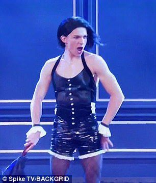 Sass queen: Tom Holland, 20, decided to channel his inner diva for the hugely popular TV show Lip Sync Battle on Sunday as he performed Rihanna's 2007 hit Umbrella