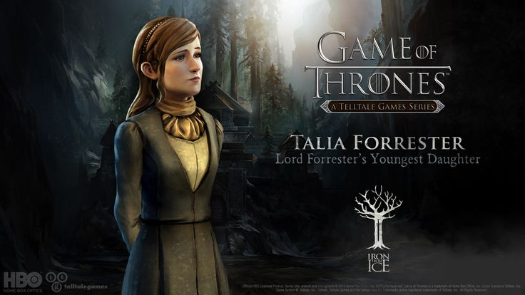 Talia Forrester. Lord Ethan's twin sister. Talia mostly helps her mother Lady Forrester or her brother Rodrik Forrester get through their struggles with the Whitehill soldiers. Born with a beautiful singing voice she often writes songs, although her previous songs have been sad due to the death of her twin Lord Ethan Forrester. #IronFromIce