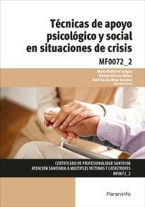 Portada del libro MF0072_2 - Técnicas de apoyo psicológico y social en situaciones de crisis