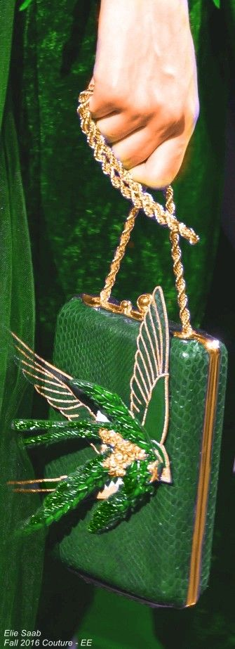Green - Elie Saab Fall 2016 Couture - EE handbags wallets - amzn.to/2jDeisA Clothing, Shoes & Jewelry - Women - Accessories - Women's Accessories - http://amzn.to/2kHDYlL from http://www.justwomanfashion.com