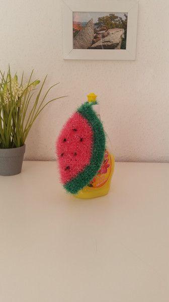 Putzutensilien - Spülschwamm Melone S gehäkelt - ein Designerstück von EvE-Paris bei DaWanda