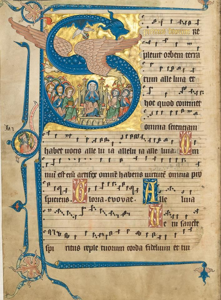 Historiated initial from the Codex Gisle, by Gisela von Kerssenbrock