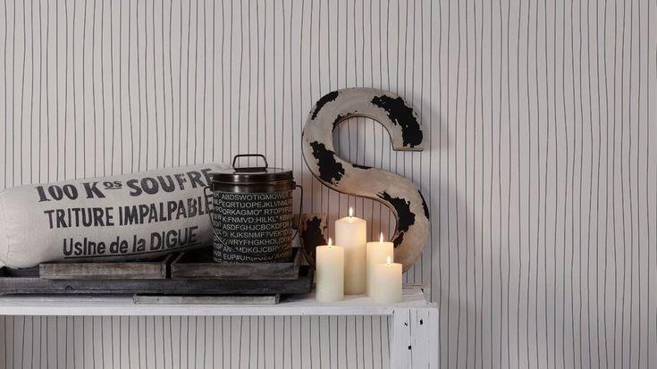 Moderní tapety Esprit 11, proužky černá, design na Vaše stěny od www.e-color.cz